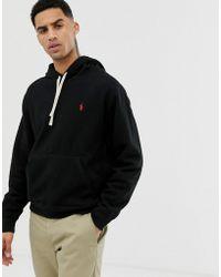 c659ef475 Polo Ralph Lauren Jersey Zip-up Hoodie in Black for Men - Save 47 ...