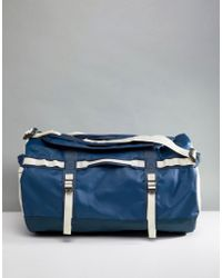The North Face - Base Camp Duffel Bag Small 50 Litres In Blue/white - Lyst