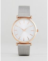 New Look - Mesh Strap Watch - Lyst