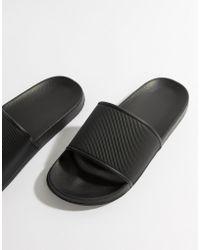 ASOS - Sliders In Black - Lyst
