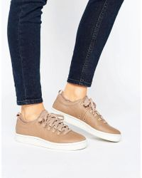 K-swiss - Roy Ankle Sock Trainers In Taupe - Lyst