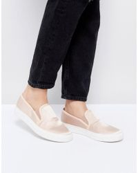 Faith - Karlie Natural Slip On Sneakers - Lyst