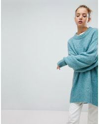 Weekday - Oversized Boiled Wool Jumper - Lyst