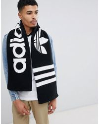 adidas Originals - Logo Scarf In Black D98954 - Lyst