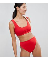 PrettyLittleThing - Crop Bikini Top - Lyst