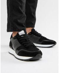 gris cuir sélectionnées gris pour hommes et Baskets en Lyst avec semelle blanche xAp1WW8wqf