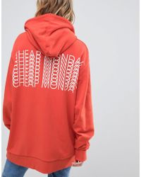 Cheap Monday - Oversized Hoody With Repeat Back Logo - Lyst