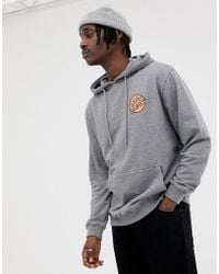 Santa Cruz - Japanese Dot Back Print Hoodie In Grey - Lyst