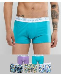 River Island - Trunks In Bird Of Paradise Print 5 Pack - Lyst