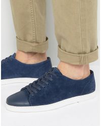 Dune - Tate Lo Trainers In Navy Suede - Lyst