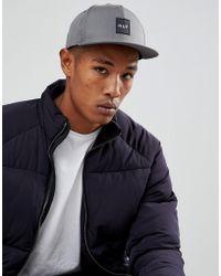 Huf - Box Logo Snapback Cap In Grey - Lyst