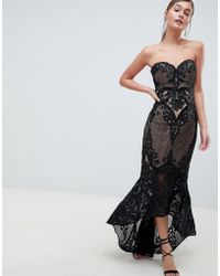 Bariano - Sweetheart Fishtail Maxi Dress In Lace - Lyst