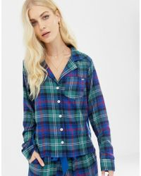 Abercrombie & Fitch - Plaid Pyjama Shirt With Side Panel - Lyst