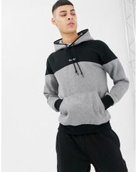 Primitive - Pacer Hoodie With Contrast Panel In Grey - Lyst