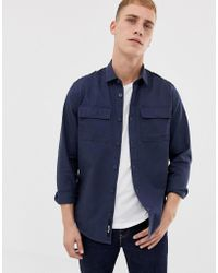 Only & Sons - Military Shirt In Regular Fit - Lyst