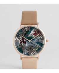 Reclaimed (vintage) - Inspired Hawaiian Two Tone Leather Watch In Brown Exclusive To Asos - Lyst