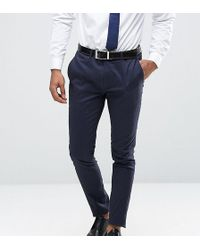 Only & Sons - Super Skinny Trousers In Cotton Sateen - Lyst