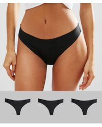 ASOS - 3 Pack Basic Seam Free Thongs - Lyst
