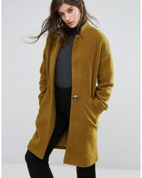 Native Youth - Wool Blend Cocoon Coat - Lyst