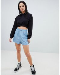 ASOS - Denim Tailored Soft Short - Lyst