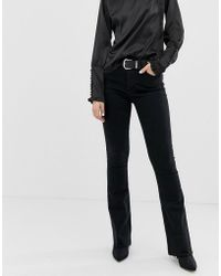 Mango - Flare Jean In Washed Black - Lyst