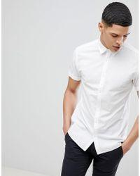 Jack & Jones - Premium Short Sleeve Shirt In Linen Mi - Lyst