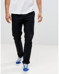 Volcom - Frickin Chinos In Straight Fit In Black - Lyst