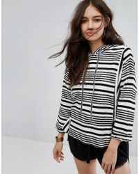 Moon River - Stripe Jumper With Tie Details - Lyst