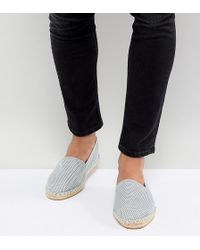 ASOS - Wide Fit Espadrilles In Gray Mesh - Lyst