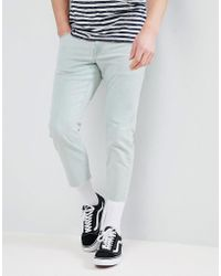 ASOS - Slim Jeans In Bleached Down Wash - Lyst