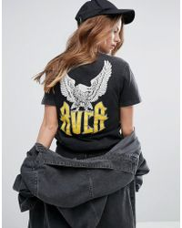 RVCA - Boyfriend T-shirt With Wings Back Graphic - Lyst