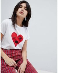 Soaked In Luxury - Winking Heart T-shirt - Lyst