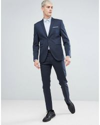 SELECTED - Slim Tuxedo Suit Jacket In Jacquard Weave - Lyst