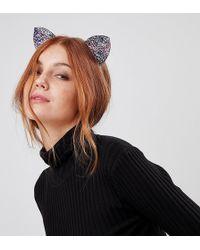 Orelia - Halloween Glitter Cat Ears - Lyst