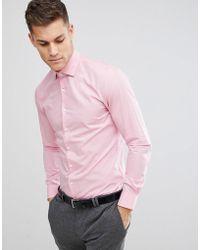 Michael Kors - Slim Easy Iron Smart Shirt In Pink - Lyst