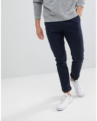 Weekday - Wood Chinos Navy - Lyst