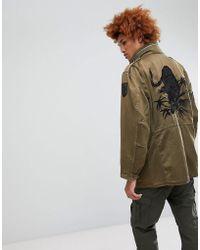 b6a43277f6835 Maharishi Camo Tour D'afrique Shirt Jacket in Black for Men - Lyst
