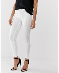 e179cb4bd3 Forever Unique Dark Wash Jeans With Rips in Black - Lyst