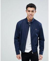 Lacoste - Zip Through Harrington Jacket In Navy - Lyst
