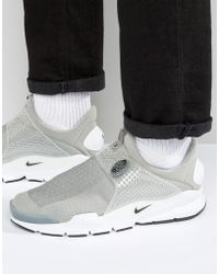 Nike - Sock Dart Trainers In Grey 819686-002 - Lyst