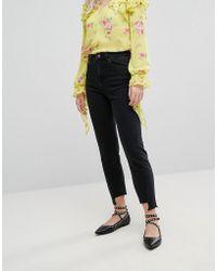 Miss Selfridge | Twist Seam Mom Jeans | Lyst