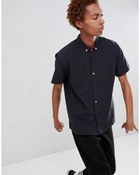 FairPlay - Short Sleeve Button-up Shirt In Black - Lyst