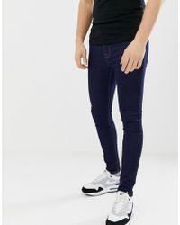 ASOS - Spray On Jeans In Power Stretch Denim In Indigo - Lyst