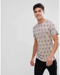 T-Shirt With Cloud Print - Washed pink Bellfield Cheap Marketable jiTRHKbnmE