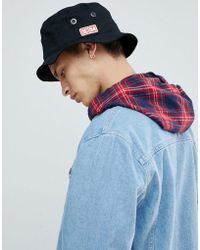 DC Shoes - Bucket Hat With Logo In Black - Lyst