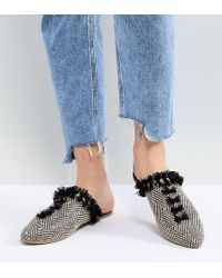 Maison Scotch - Exclusive Slipper Shoes In Canvas And Tassles - Lyst