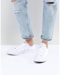 Converse Chuck Taylor Ox Trainers In Triple White