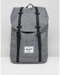 Herschel Supply Co.   . Retreat Backpack In Crosshatch 19.5l   Lyst