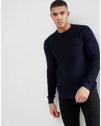 Ted Baker - Crew Neck Jumper In Texture - Lyst