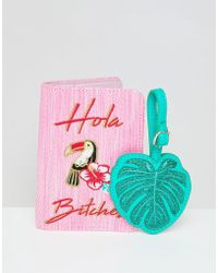 Skinnydip London - Hola! Passport Holder & Leaf Luggage Tag - Lyst
